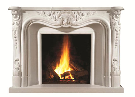 1100 Cast stone fireplace mantel