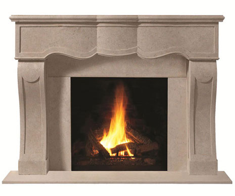 1104.527 Cast stone fireplace mantel