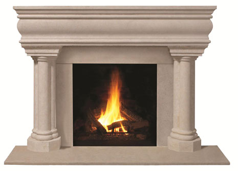 1106.555 Cast stone fireplace mantel