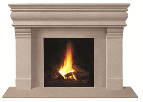 1106.556 Cast stone fireplace mantel