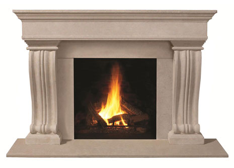1110.536 Cast stone fireplace mantel