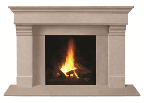 1110.556 Cast stone fireplace mantel