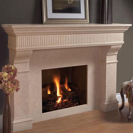 1110 Flute 557 Fireplace Stone Mantel Vertical Dimension Com
