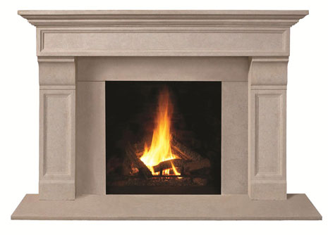 1111.511 Cast stone fireplace mantel