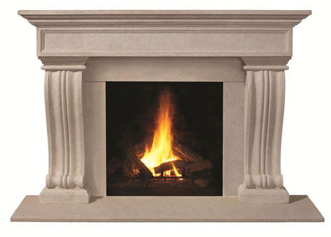 1111.536 Cast stone fireplace mantel