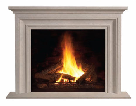 1114S Cast stone fireplace mantel