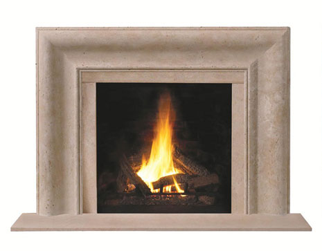 1115.11 Cast stone fireplace mantel