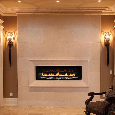 1116 Fireplace Stone Mantel Vertical