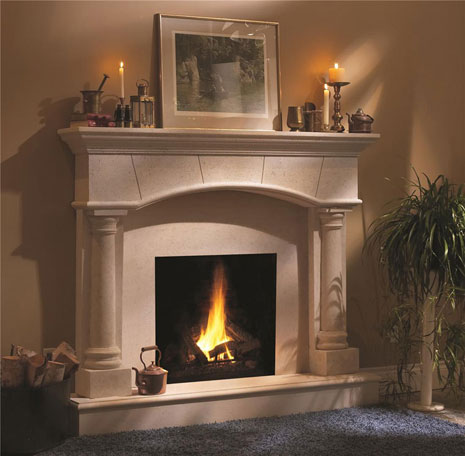 1130.70.531 Cast stone fireplace mantel