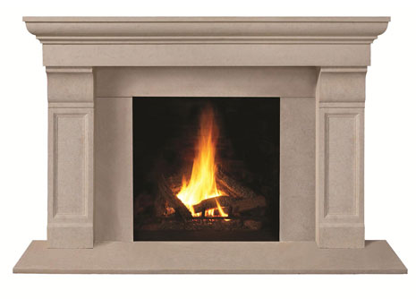 1147.511 Cast stone fireplace mantel