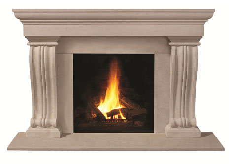 1147.536 Cast stone fireplace mantel