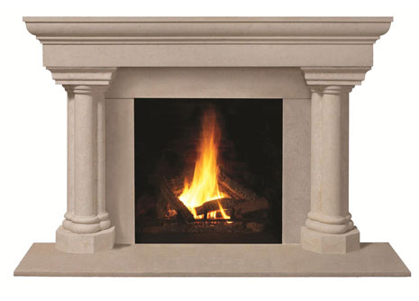1147.555 Cast stone fireplace mantel