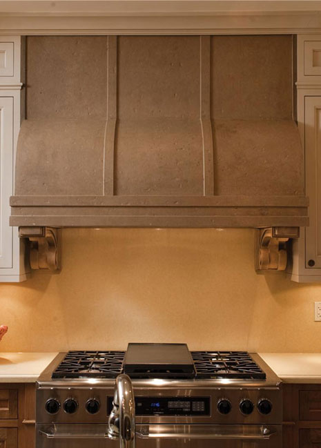 Stone Range Hoods ~ Kh cast concrete kitchen hood vertical dimension