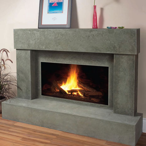 7701 Cast stone fireplace mantel