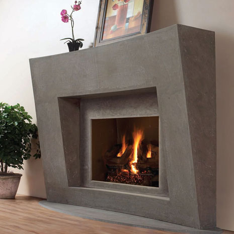 7702 Cast stone fireplace mantel