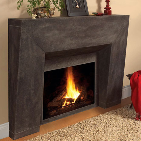 7703 Cast stone fireplace mantel