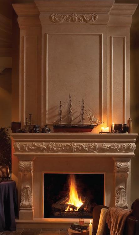 REGAL Fireplace Stone Mantel Vertical