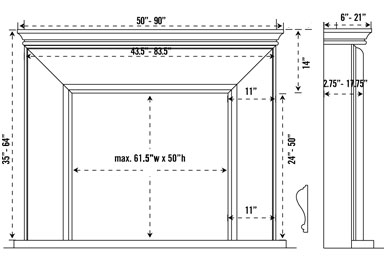 1115.11.101 stone fireplace mantel spec sheet