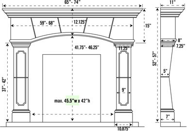 Fireplace Dimensions Images Reverse Search