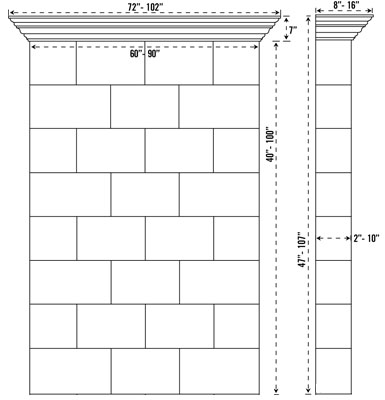 CLASSIC stone fireplace mantel spec sheet
