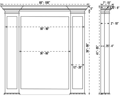 FRESNO stone fireplace mantel spec sheet