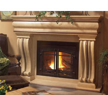 1106.536 stone fireplace mantle surround in Washington D.C.