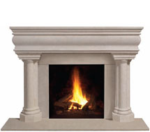 1106.555 stone fireplace mantle surround in Washington D.C.