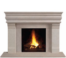 1106.556 stone fireplace mantle surround in Washington D.C.