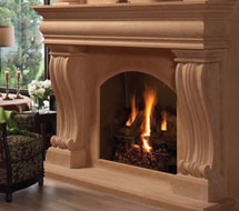1108.536 stone fireplace mantle surround in Washington D.C.