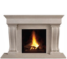 1110.536 stone fireplace mantle surround in Washington D.C.