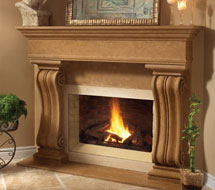 1110.538 stone fireplace mantle surround in Washington D.C.