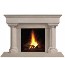 1110.555 stone fireplace mantle surround in Washington D.C.