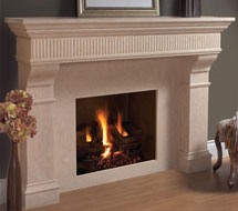 1110.FLUTE.557 stone fireplace mantle surround in Washington D.C.