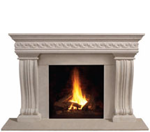1110S.536 stone fireplace mantle surround in Philadelphia