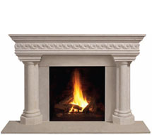 1110S.555 stone fireplace mantle surround in Washington D.C.