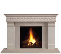 1110S.556 stone fireplace mantle surround in Washington D.C.