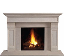 1111.511 stone fireplace mantle surround in Washington D.C.