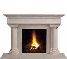 1111.555 stone fireplace mantle surround in Washington D.C.