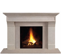 1111.556 stone fireplace mantle surround in Washington D.C.