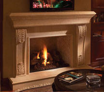 1112.533 stone fireplace mantle surround in Washington D.C.