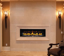 1116 stone fireplace mantle surround in Philadelphia