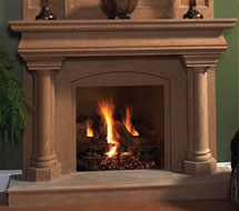 1126.555 stone fireplace mantle surround in Washington D.C.
