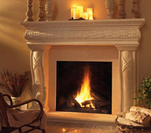 1127.577 stone fireplace mantle surround in Washington D.C.