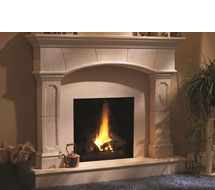 1130.70.530 stone fireplace mantle surround in Washington D.C.