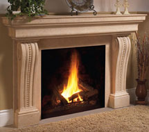 1135.537 stone fireplace mantle surround in Washington D.C.