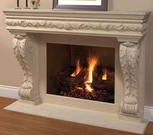1136.11.545 stone fireplace mantle surround in Washington D.C.