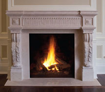 1141.524 stone fireplace mantle surround in Washington D.C.