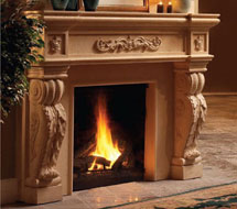 1142.524 stone fireplace mantle surround in Washington D.C.