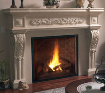 1145.534 stone fireplace mantle surround in Philadelphia