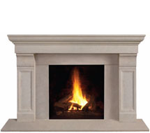 1147.511 stone fireplace mantle surround in Washington D.C.